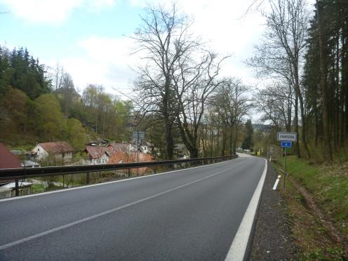 Einfahrt nach Vimperk (Winterburg)