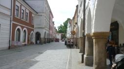 in den Straßen von Trebon